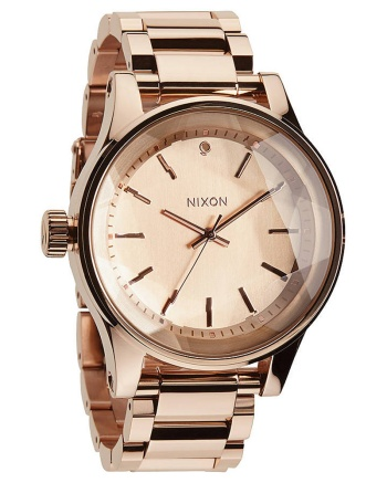 PreciousMetals_Men's-The-Facet-watch-in-rose-gold-$359.99-from-Nixon